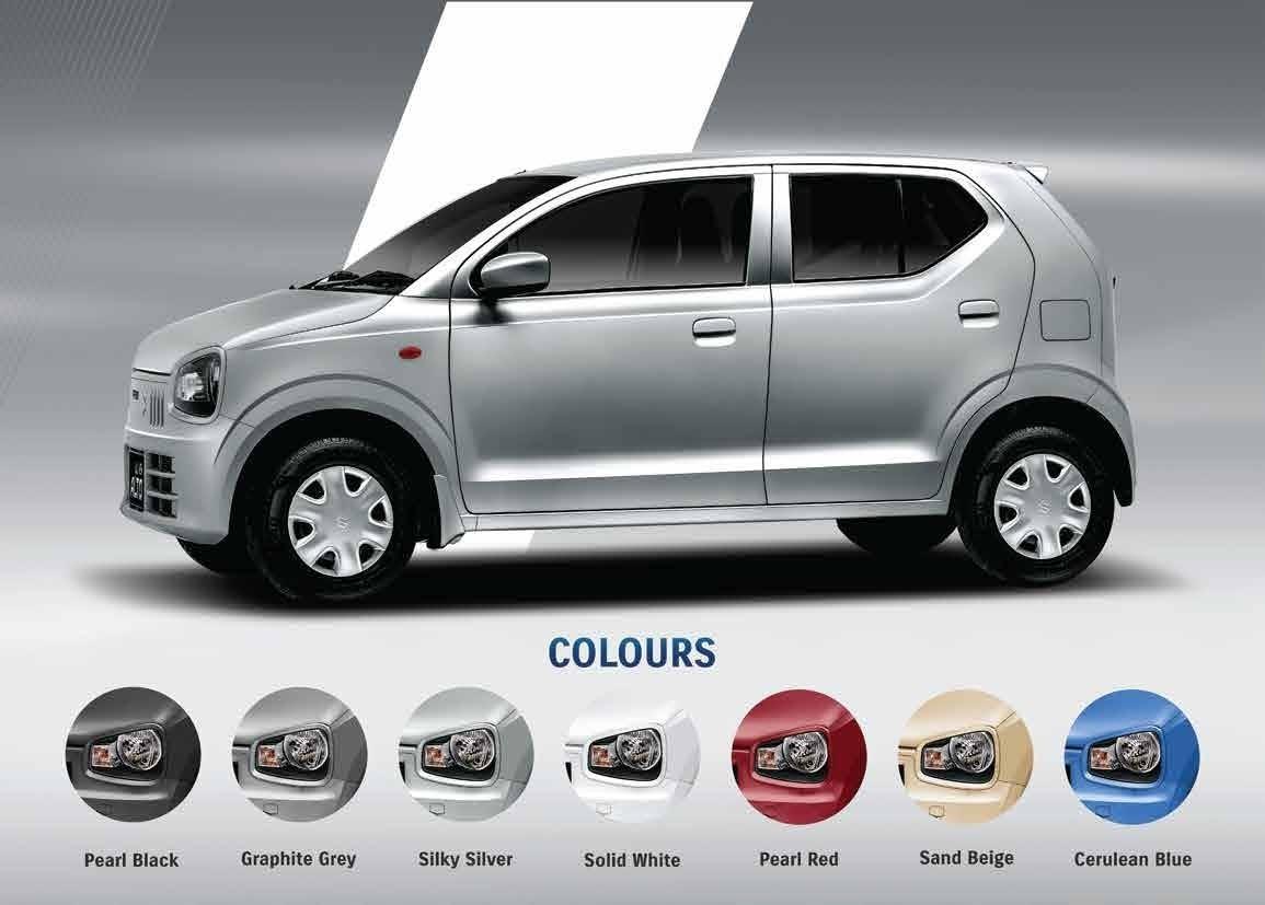 Suzuki Alto 2021 Colors