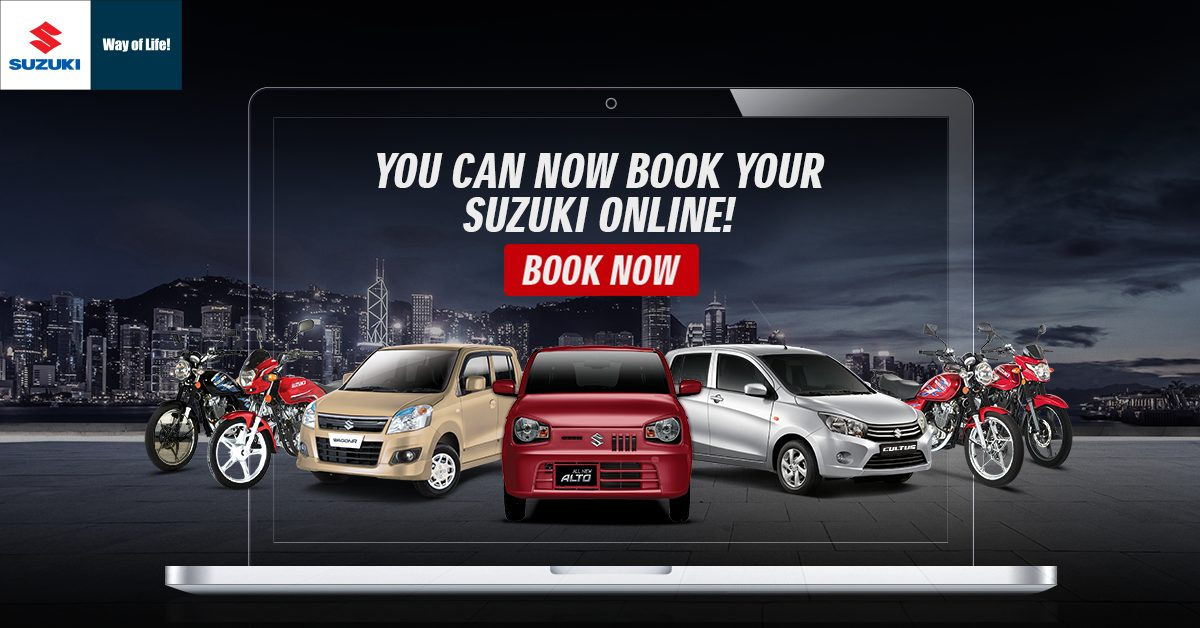Online booking of Pak Suzuki Cars and Bikes